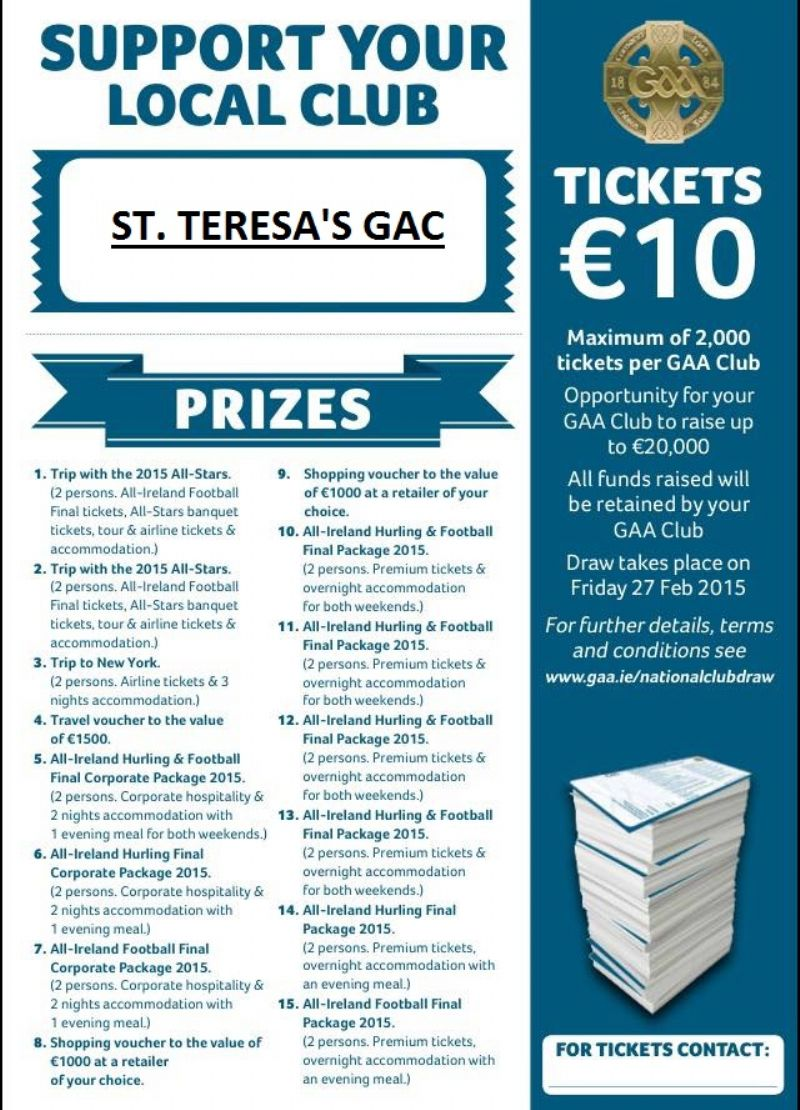 GAA NATIONAL DRAW 2015