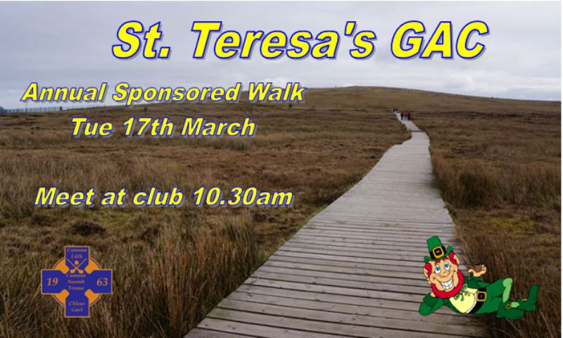 Annual Sponsored Walk - St Patrick's Day